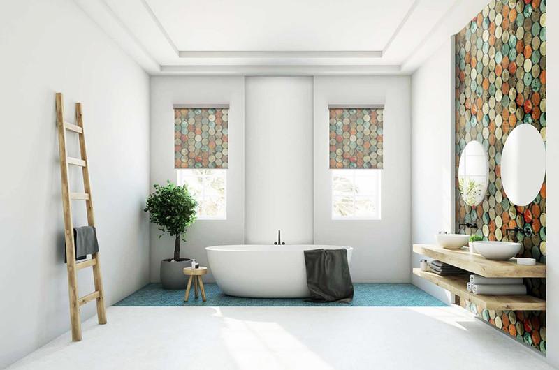 Tende eleganti e accessori per il bagno