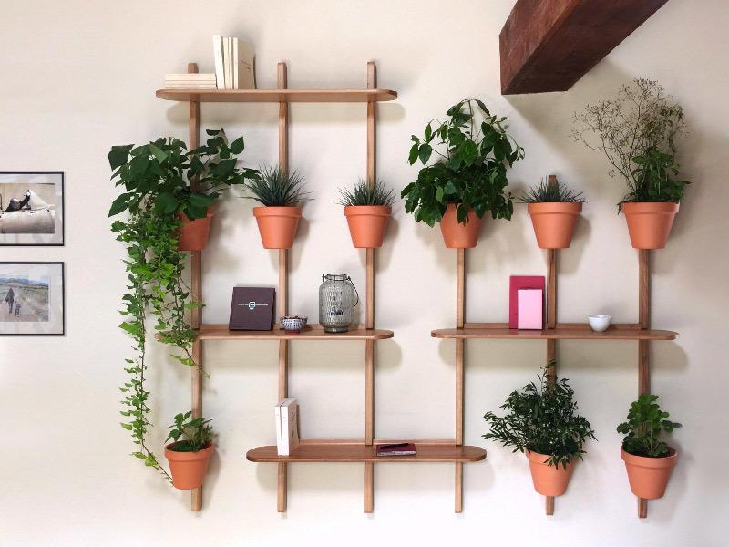 Portavaso in rovere per piante