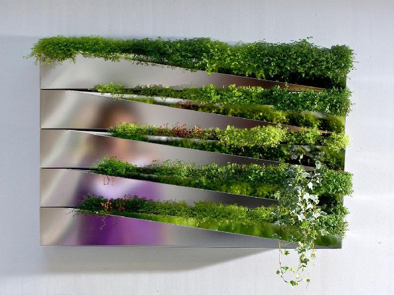 Vaso in acciaio per piante