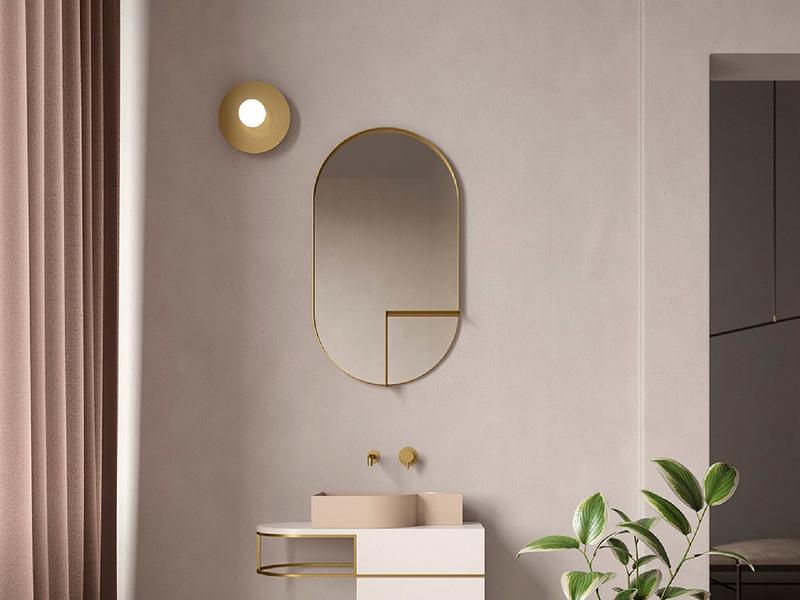 Per il tuo bagno piccolo in stile moderno scegli il rosa