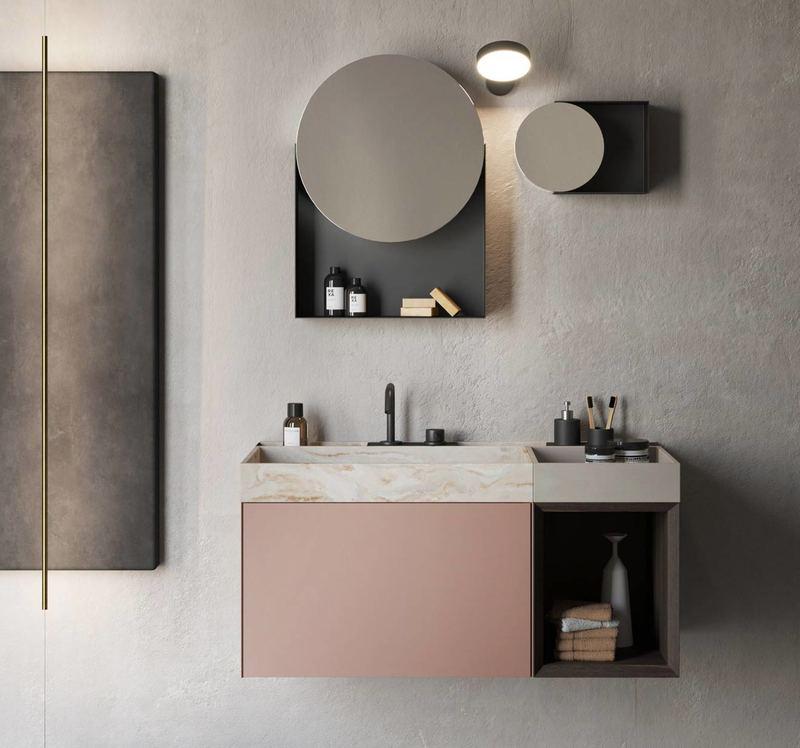 Mobile con cassetto per il tuo bagno piccolo in stile moderno