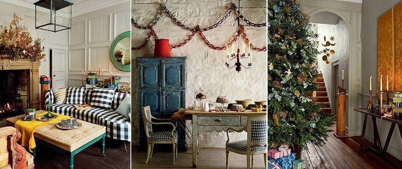 Decorazioni natalizie in verde, rosso e legno, idee