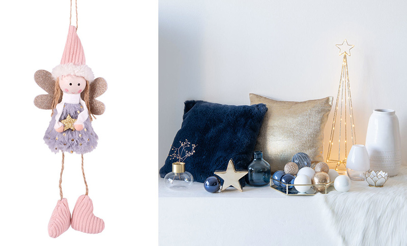 Decorazioni natalizie rosa e blu per Natale 2020