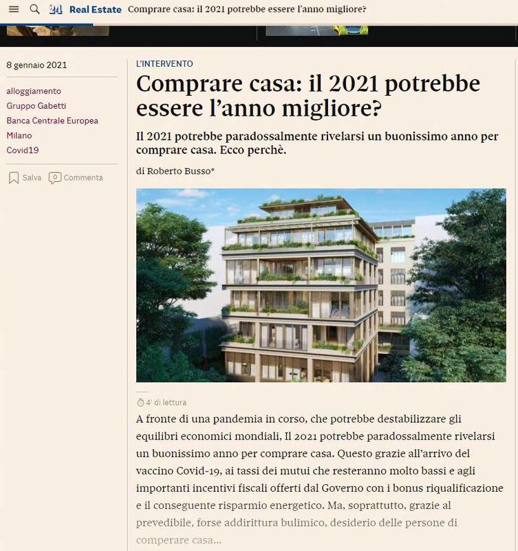 Il 2021 il migliore anno per comprare casa?