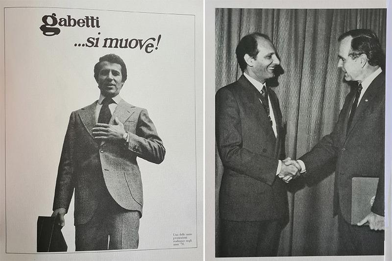 Promozioni realizzate negli anni '70 – Il Cavaliere Gabetti con George Bush, allora vice presidente U.S.A.