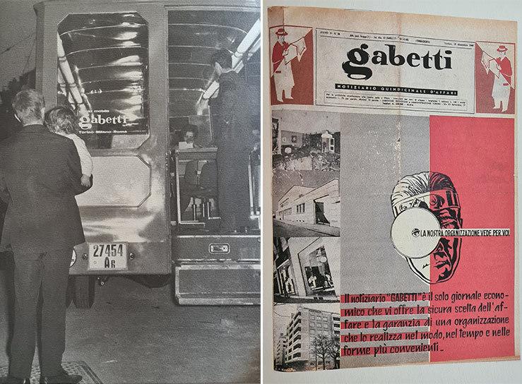 Il primo ufficio mobile e il Notiziario Gabetti